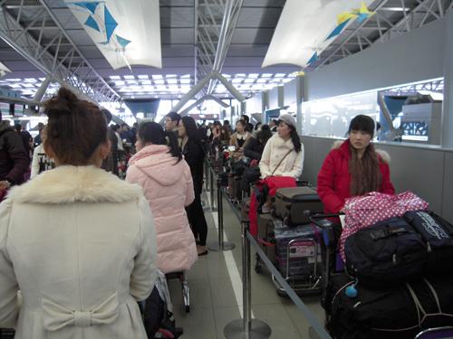 第10期生関西空港より帰国